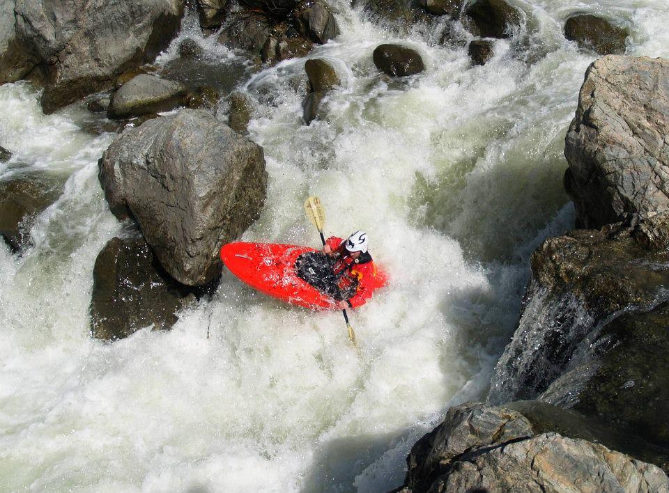 Uno de los saltos del río Guadiato.