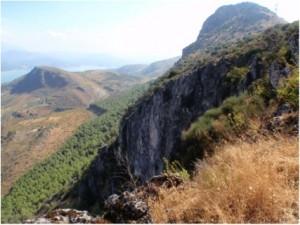 Paisaje desde la vía ferrata de las cuevas de san marcos