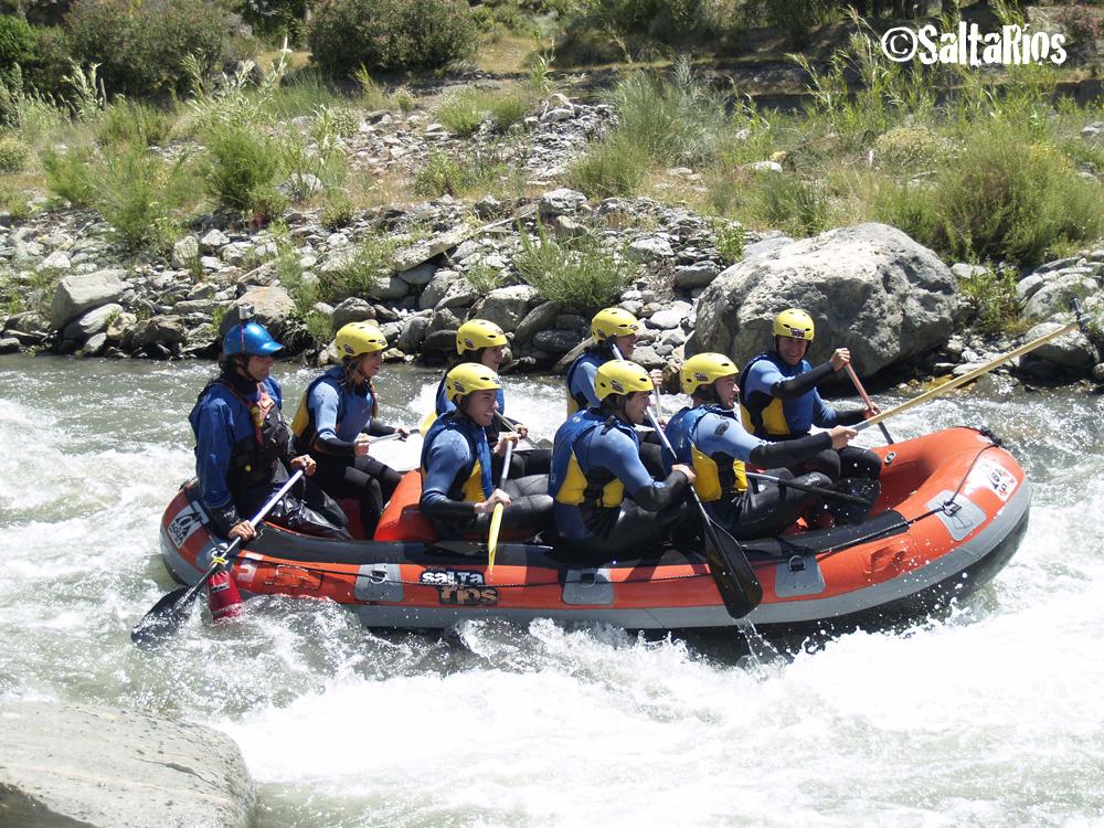 Descenso en rafting en el río Guadalfeo