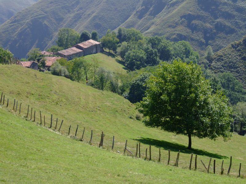 Paisaje Asturiano, Vega de Ibeu, Meré. Asturias.